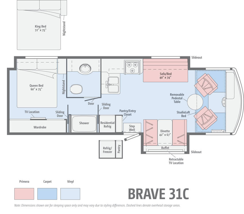 Winnebago Brave 31C Floorplan