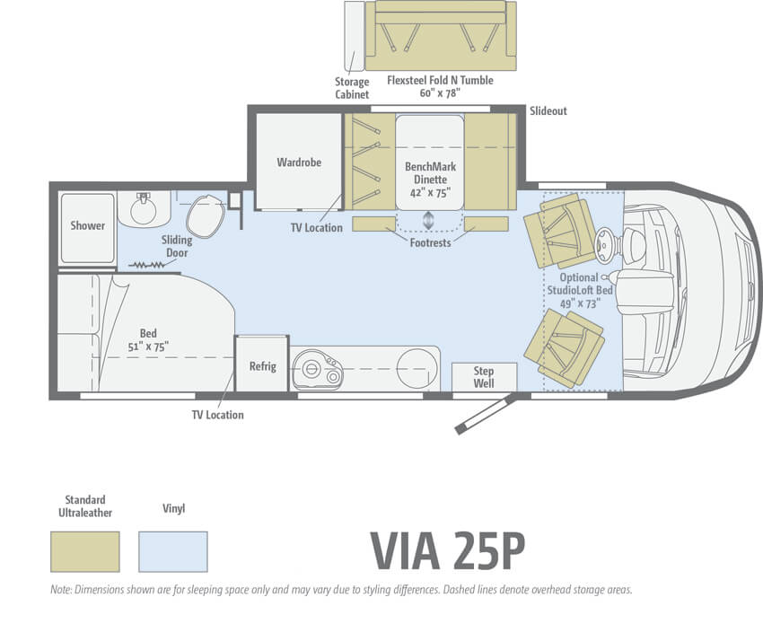 Winnebago Via 25P Floorplan