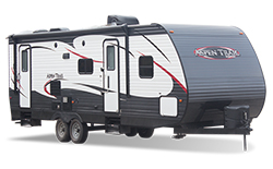 trailer camper, picture of a trailer camper with a white background