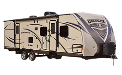 Gulfstream Gulf Breeze, picture of the exterior of a gulfstream gulf breeze travel trailer