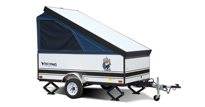 picture of a coachmen viking express travel trailer that will be for sale at the ohio rv show, rv show, ohio rv show at the ix center in cleveland ohio