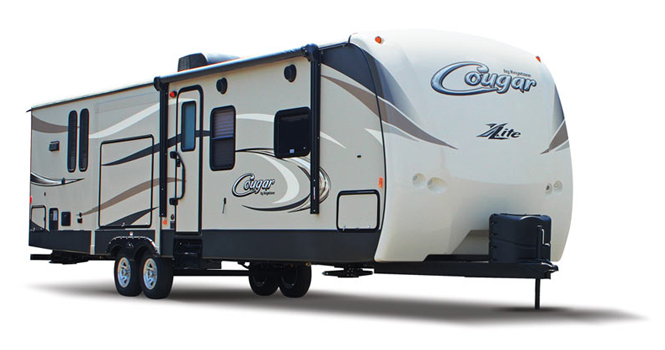 picture of a keystone cougar x-lite trailer that will be for sale at the ohio rv show, rv show, ohio rv show at the ix center in cleveland ohio