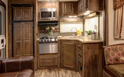 shop rvs with rear kitchen, picture of a rear kitchen inside of a rv, rear kitchen rv floorplans