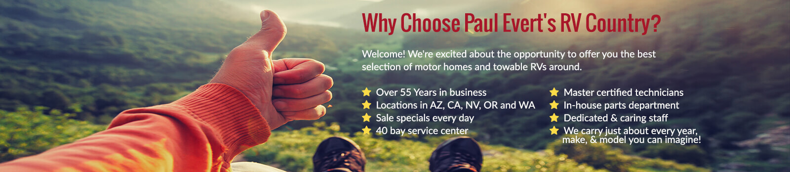 Why Choose Paul Evert's RV Country?