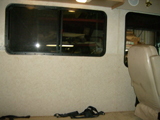 RV window leak water damage - repair.