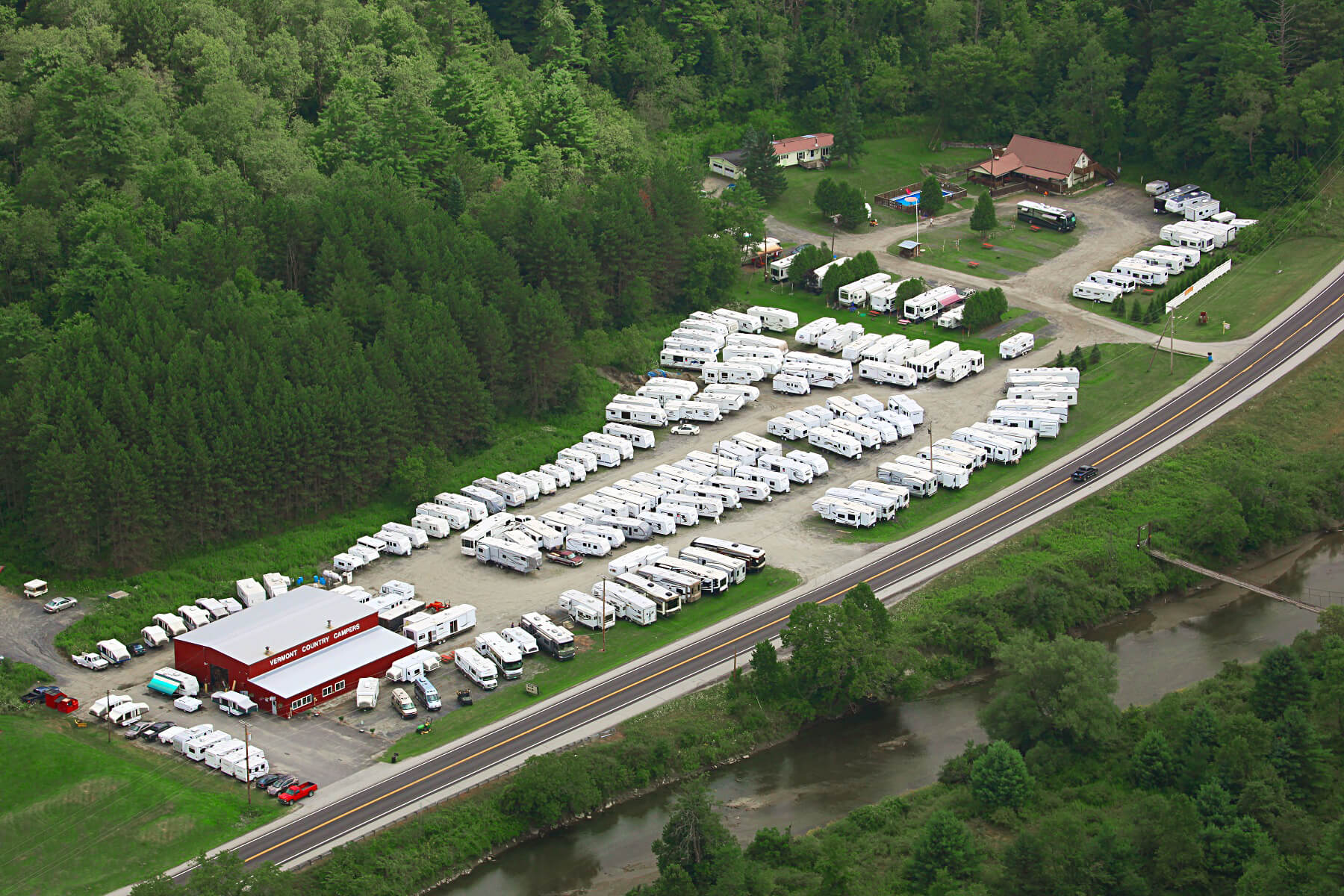 Vermont Country Campers aerial photo