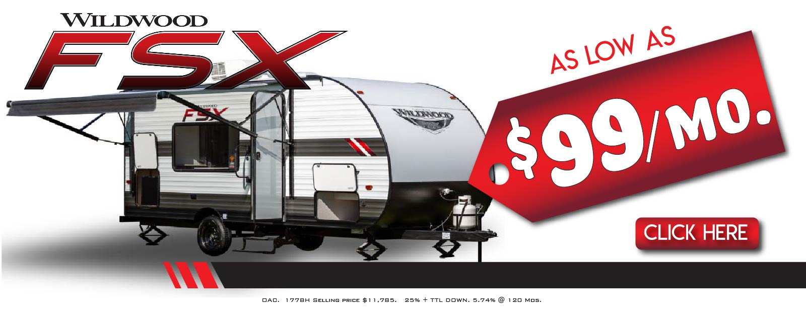 2020 Wildwood FSX 177BH as low as $99 per month