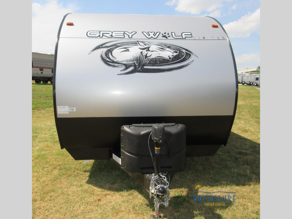 Grey Wolf Rv >> New 2020 Forest River RV Cherokee Grey Wolf 22RR Toy Hauler Travel Trailer at Adventure Motor ...