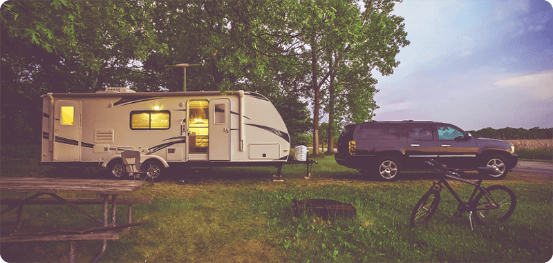 SUV and Travel Trailer