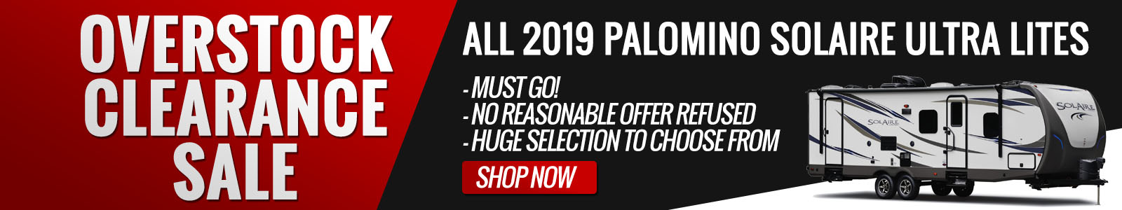Overstock clearance sale all 2019 Palomino Solaire Ultra Lites