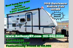 New 2018 Dutchmen RV Kodiak Cub 185MB Photo