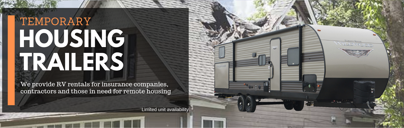 Temporary Housing RV Rental