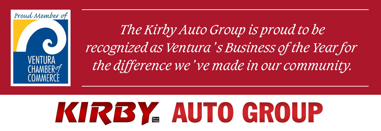 Ventura Chamber of Commerce Business of the Year - Kirby Automotive