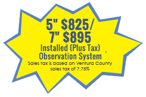 "YOUR RV $751.995"" Monitor Installed (Includes Tax) Observation System Sales tax is based on Ventura County sales tax of 7.75%"