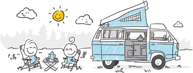 Sketch Family Camping