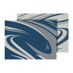 Outdoor Mat - Blue and Grey Swirl Pattern