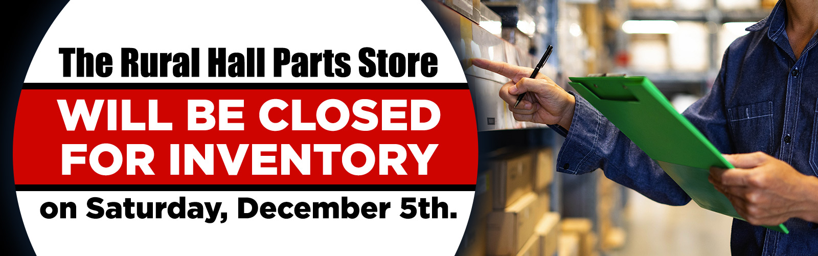 Parts Store Closed