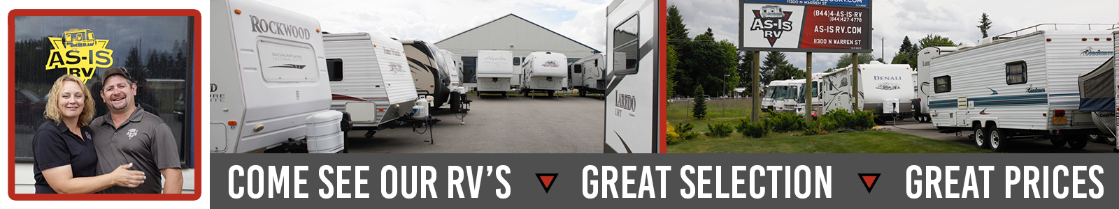 Come See Our RVs