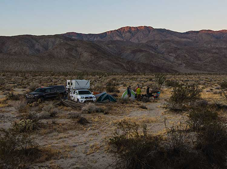 RV Camping in desert