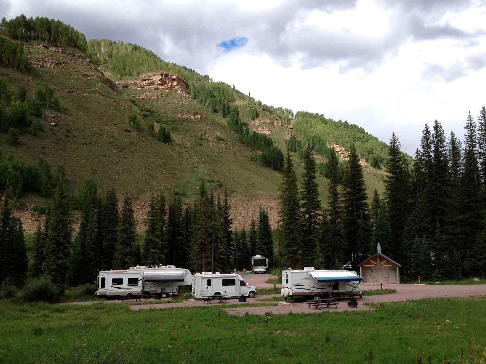 RVs parked in Recreation Area