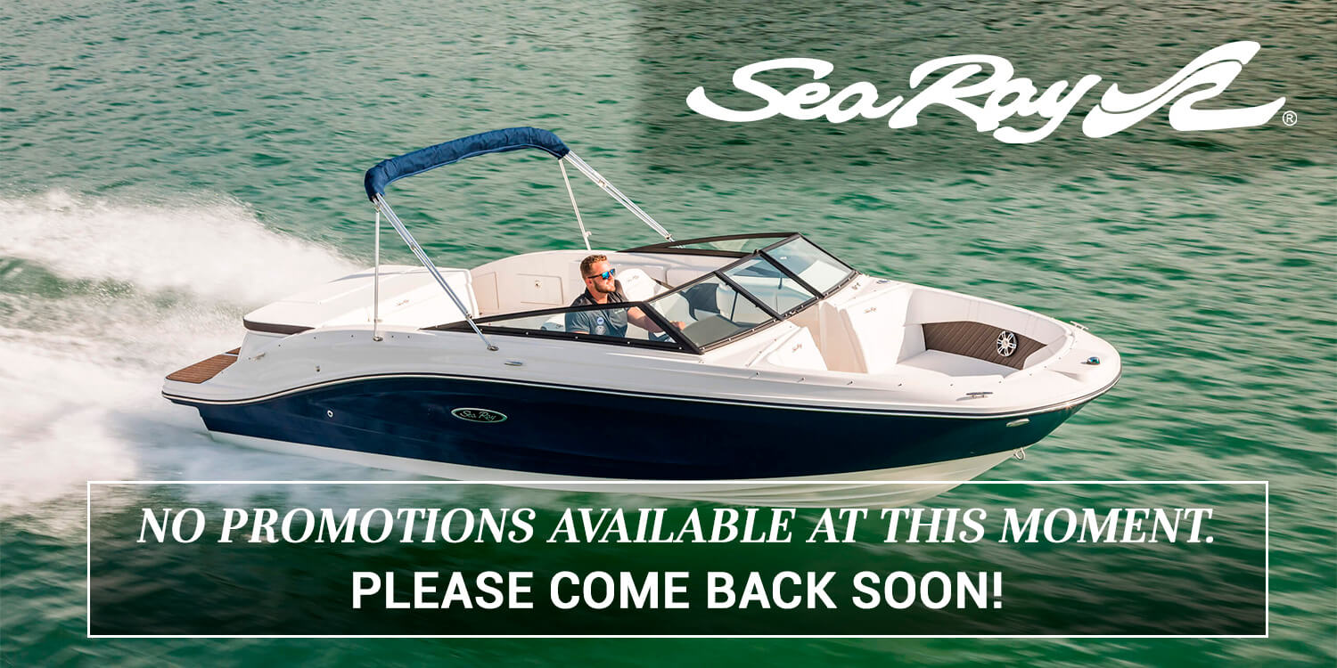 No current SeaRay Boat Promotions - Check back soon