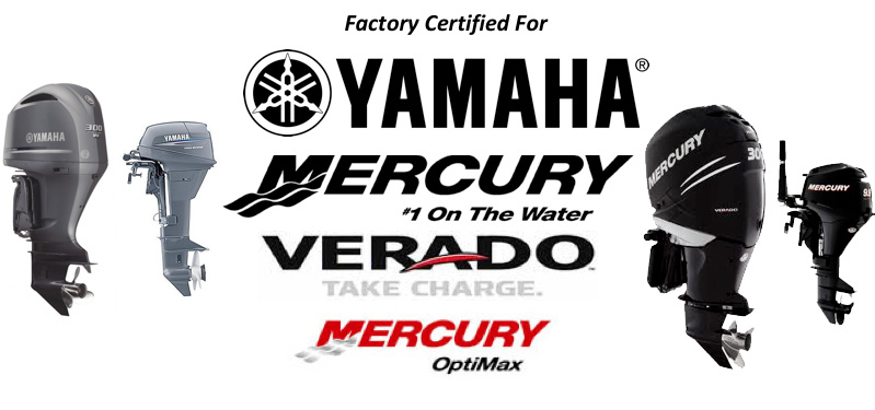 Yamaha, Mercury, and Verado Motor Banner