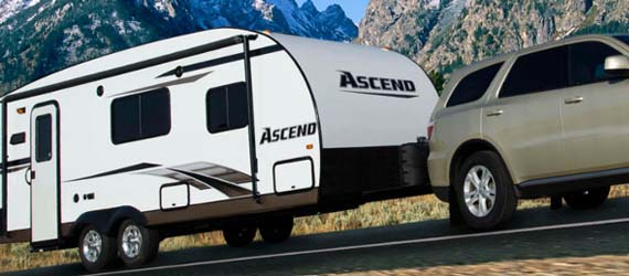Towing Travel Trailer through mountains