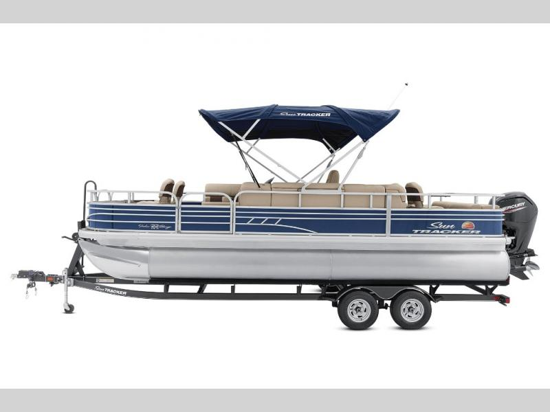 2021 Sun Tracker boat for sale, model of the boat is Fishin Barge 22 DLX & Image # 3 of 6