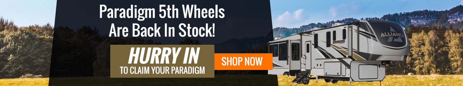 Paradigm Fifth Wheel Just Arrived