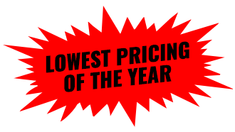 Lowest Pricing Of The Year