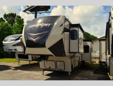 New 2020 Forest River Sandpiper 384QBOK Fifth Wheel RV For Sale (1)