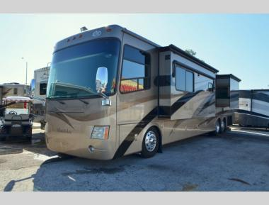 Used 2008 Thor Mandalay 43A Class A Diesel Pusher Motor Home RV For Sale (1)