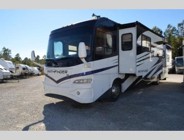 Used 2007 Coachmen Pathfinder 373DS Class A Diesel Pusher Motor Home RV For Sale (1)