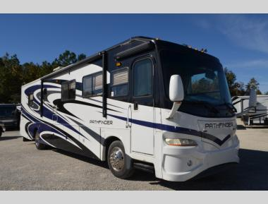 Used 2007 Coachmen Pathfinder 373DS Class A Diesel Pusher Motor Home RV For Sale (2)