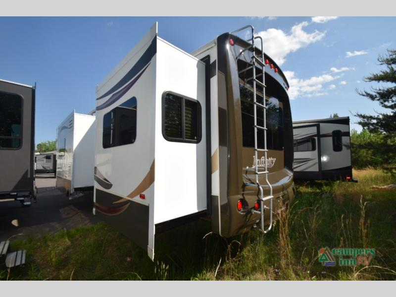 Used 2012 thor infinity 3750fl fifth wheel at campers inn - Infinity fifth wheel front living room ...