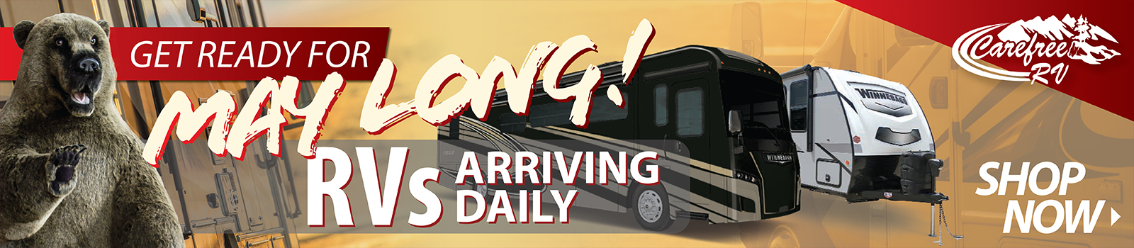 RVs Arriving Daily