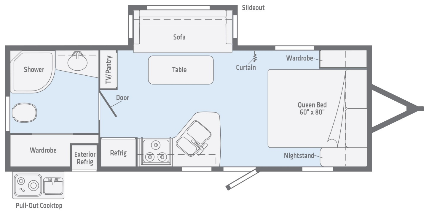 Rear Bath Floorplan