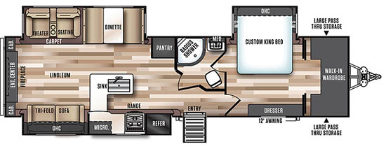Rear Entertainment Floorplan