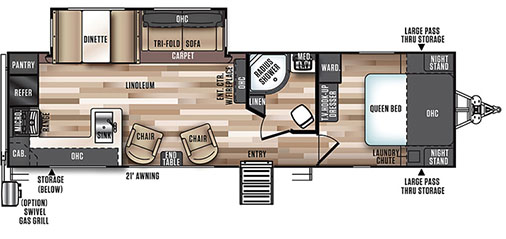 Rear Kitchen Floorplan