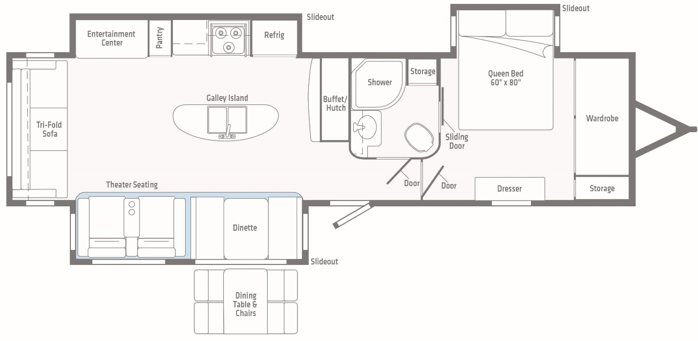 Rear Living Floorplan