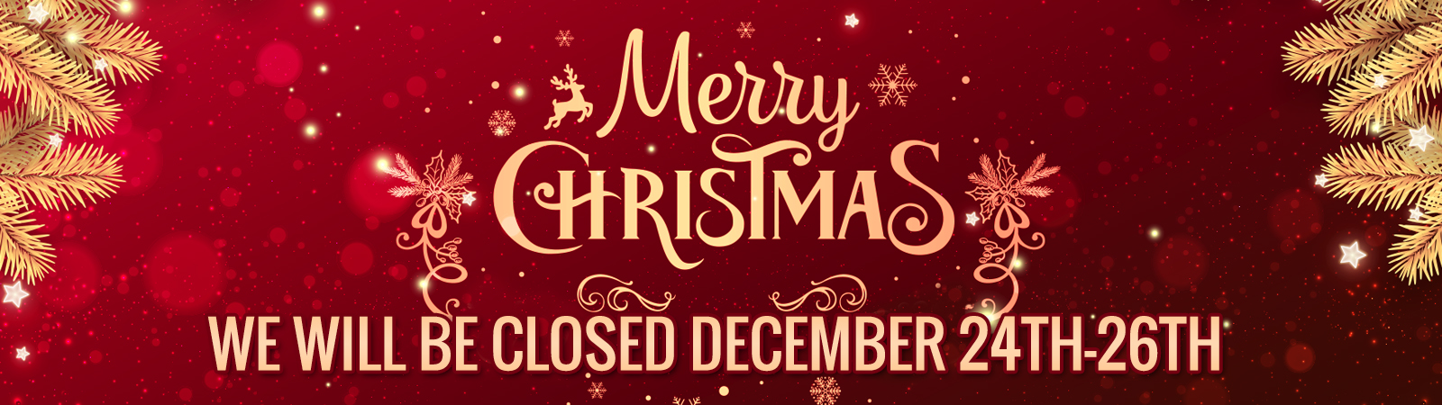 Merry Christmas we will be closed