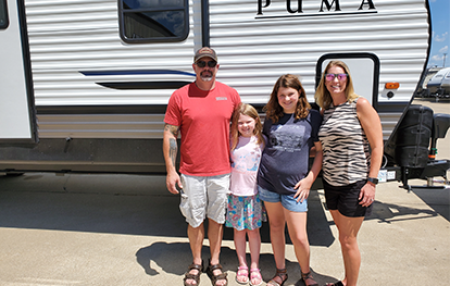 This family just bought a new Puma Travel Trailer