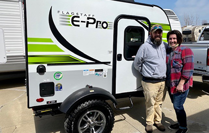 Couples camper is what the Flagstaff E-Pro is all about