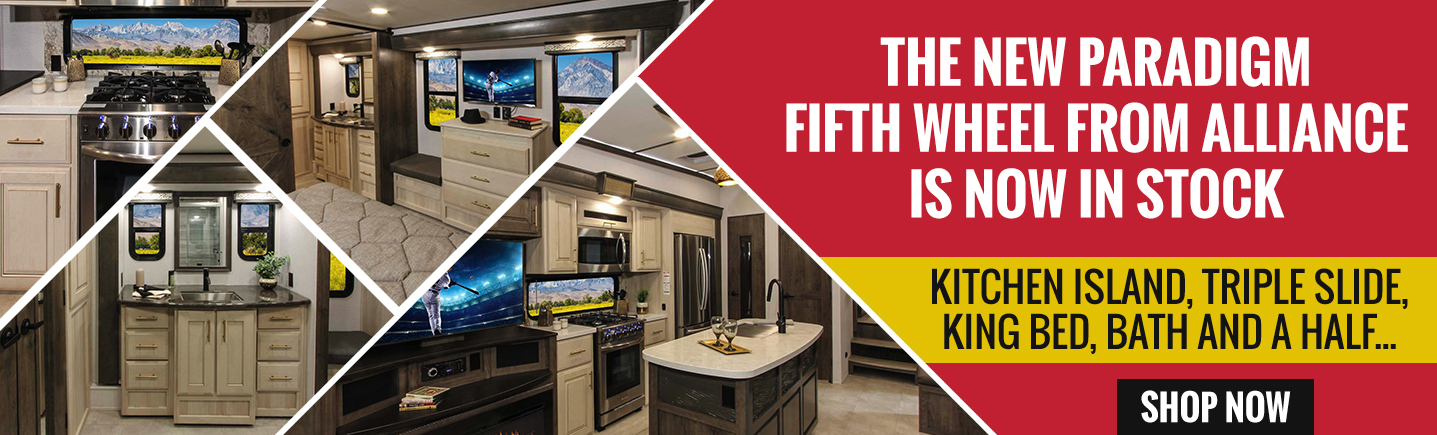 The New Paradigm Fifth Wheel from Alliance Is Now In Stock