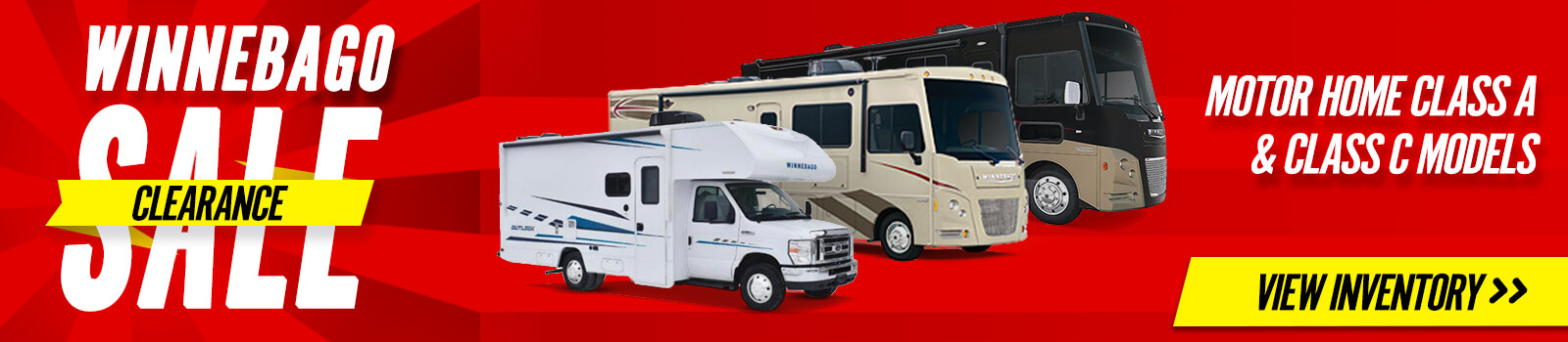 Winnebago Clearance Sale