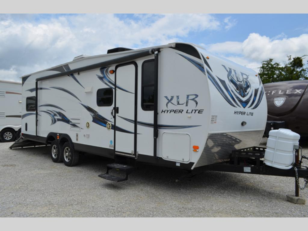 Used 2012 forest river rv xlr m 27hfs toy hauler travel for Motor home toy hauler