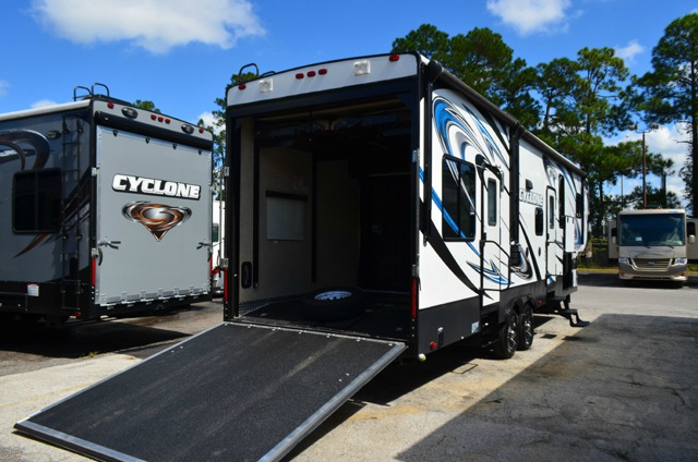 Used 2013 Heartland Cyclone 3010 Toy Hauler Fifth Wheel At