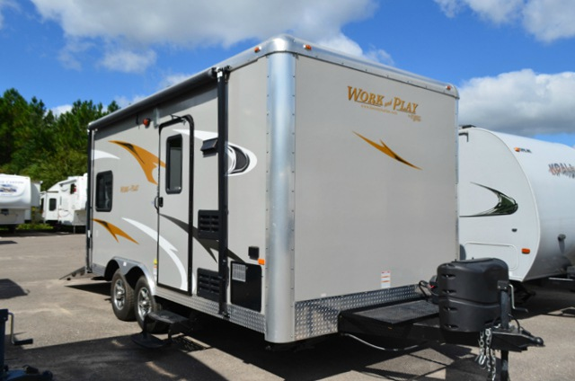 Work And Play Toy Hauler >> Used 2015 Forest River RV Work and Play Ultra Lite 16UL LE Toy Hauler Travel Trailer at Dick ...