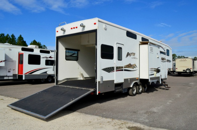 Kitchen Cabinets Jacksonville Fl Used 2007 Keystone Rv Raptor 3712ts Toy Hauler Fifth Wheel