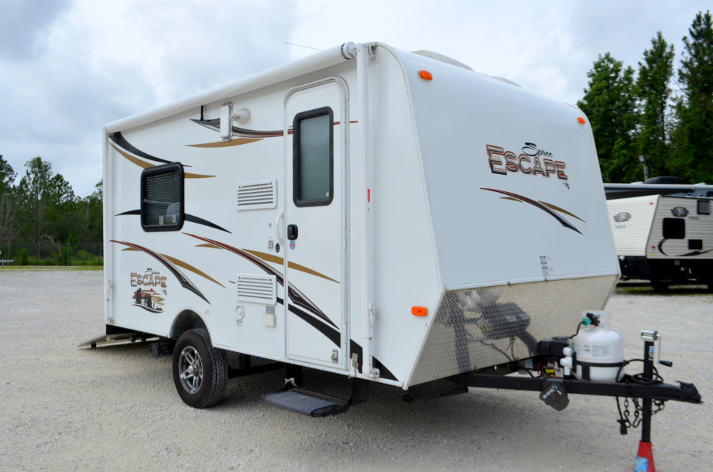 Used 2014 KZ Spree Escape 17FKTH Toy Hauler Travel Trailer at Dick